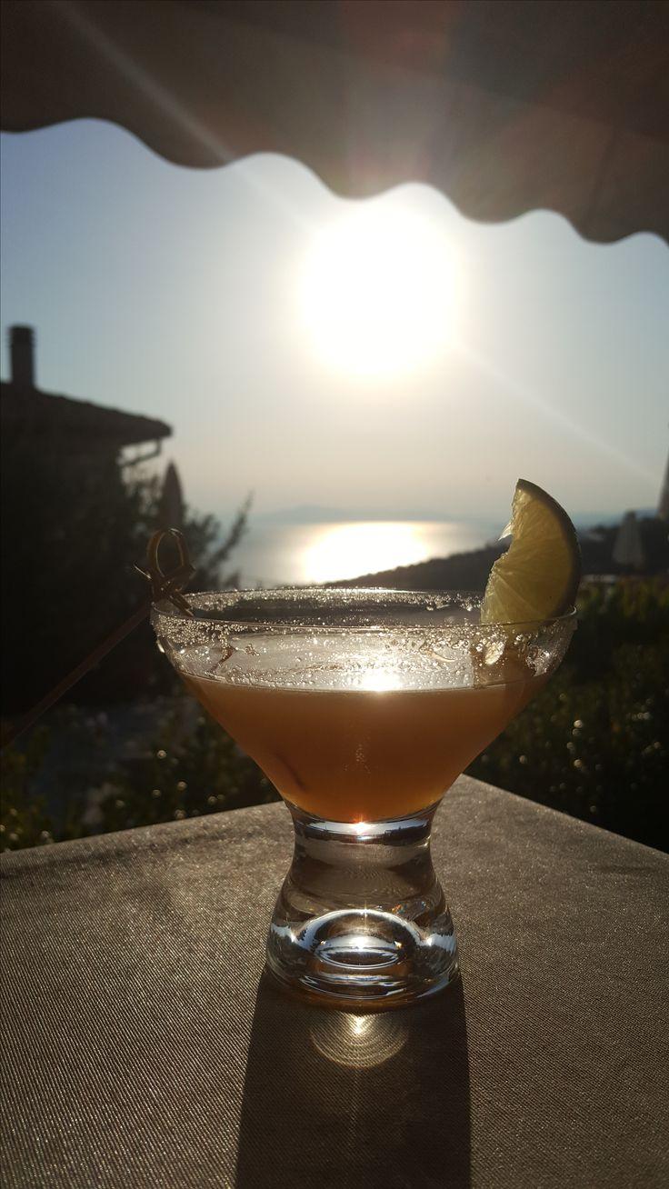 Cocktail bij Luxe Hotel Afissos, Griekenland