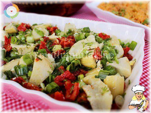 Kuru Domatesli Enginar Salatası - lezzetler.com Yemek Tarifleri
