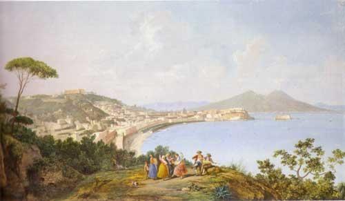 Saverio Della Gatta - Napoli da Sant'Antoniom - Napoli, collezione privata