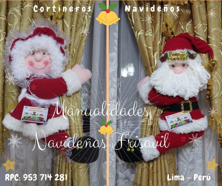 #cortineros Navideños 🎄🎅⛄ #decoracionnavideña  #noel #manualidades #hechoamano
