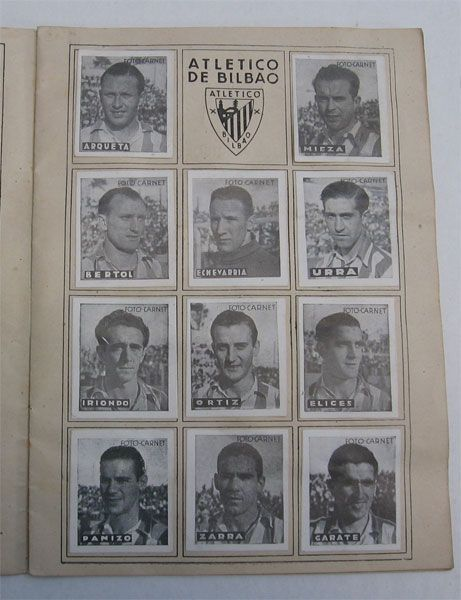 Athletic Club de Bilbao. Cromos Editorial Cisne 1942-43. Liga Española.