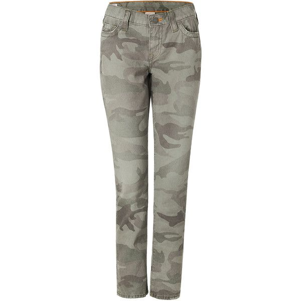 TRUE RELIGION Halle Jeans in Army Green Camo ($230) via Polyvore