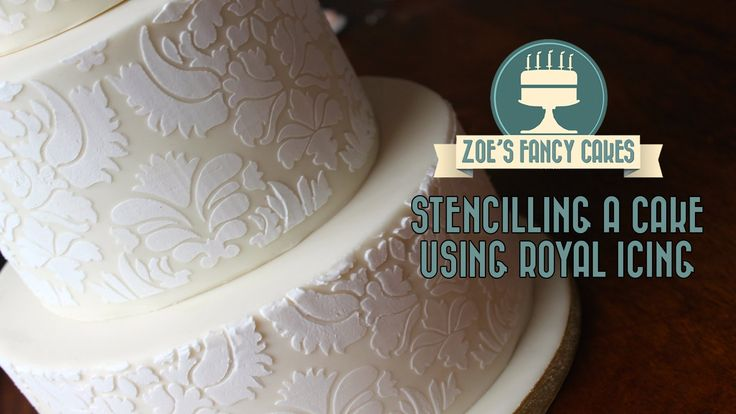 How to stencil on a cake using royal icing stencilling on a cake stencil...