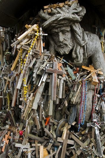 also at the Hill of crosses in Lithuania