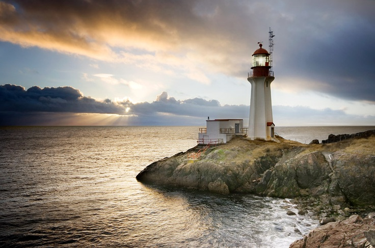 Sheringham Point lighthouse near Sooke, BC. by van der Valk photograhpy