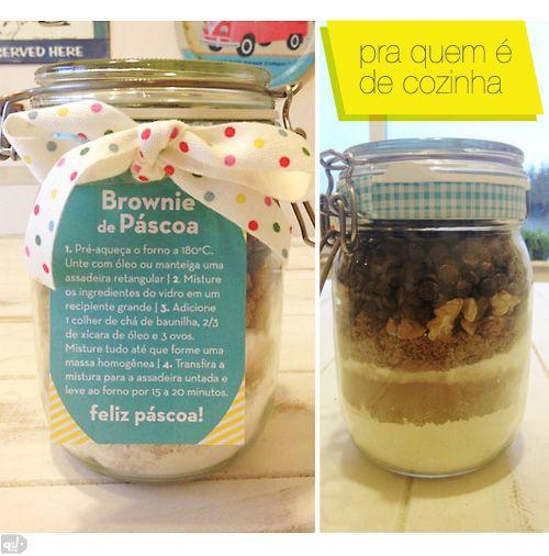 Tutorial brownie no pote páscoa 2013 | que achado!