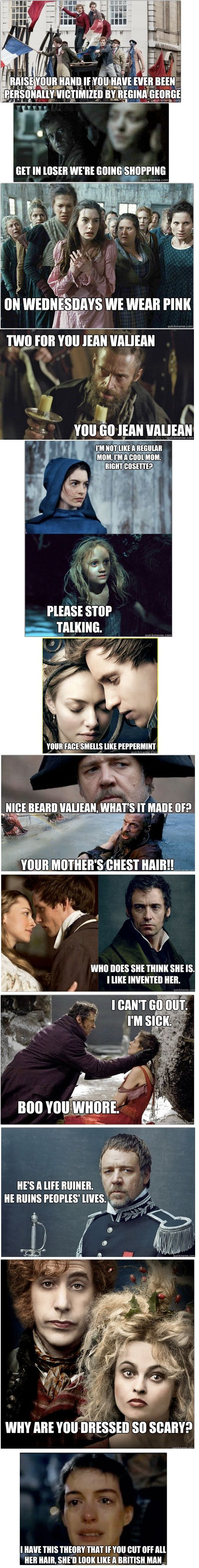 les mis + mean girls = greatness!