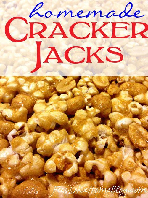 Homemade Cracker Jacks Recipe on http://www.feelslikehomeblog.com