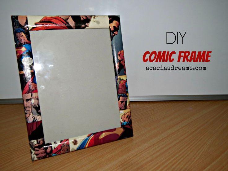 DIY Comic Frame   acaciasdreams.com