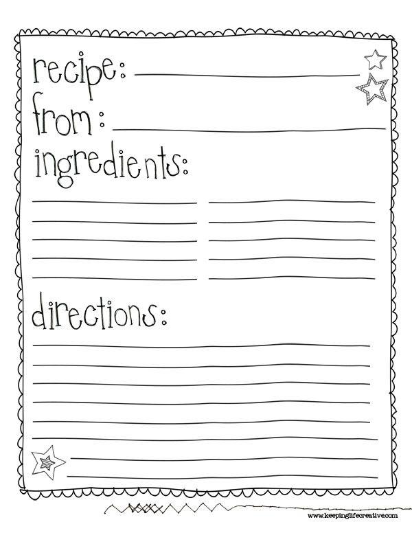 25+ best Recipe templates ideas on Pinterest