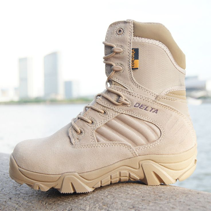 2016 Men Military Tactical Boots Desert Combat Outdoor bot Army Hiking Travel Botas  Leather Autumn Ankle Boots winter boots