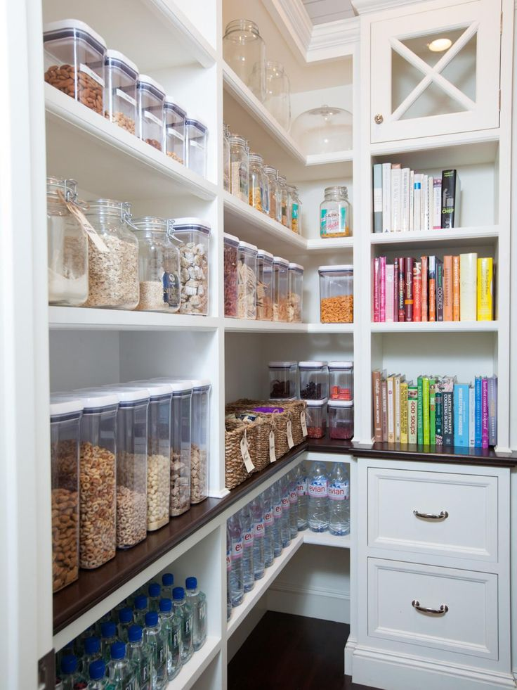 HGTV.com shares easy design tips and tricks for creating a pantry that's as pretty as it is functional.