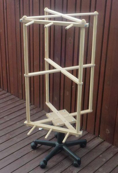 Use chair base as rotating finish platform.