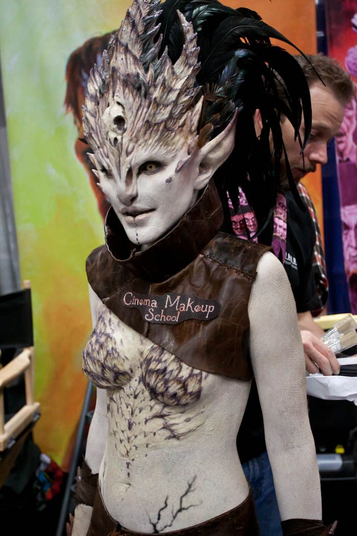 Cinema Makeup School creation by Kendall Whitehouse, photo by Hayley Sargent (2012)