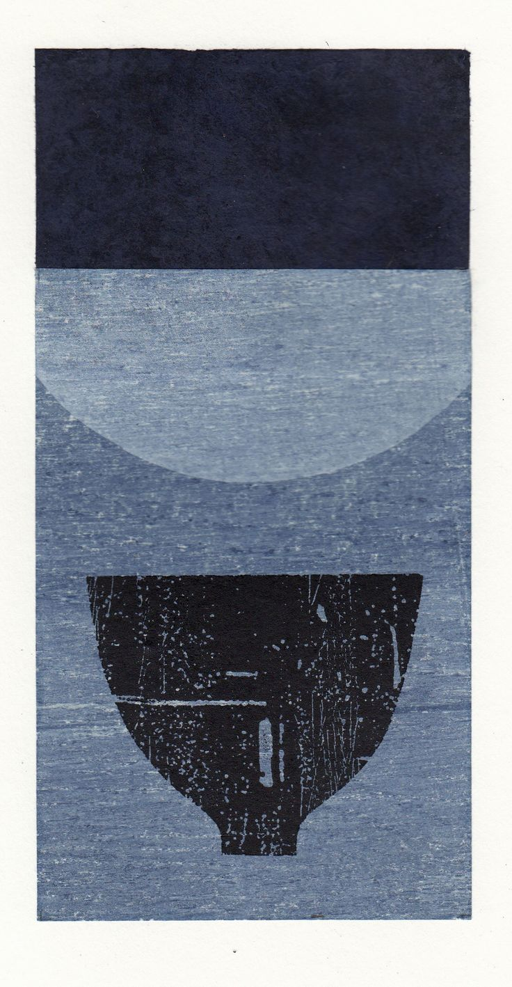 Ann Symes- Tea bowl collection - Japanese woodblock, surface rolled etching