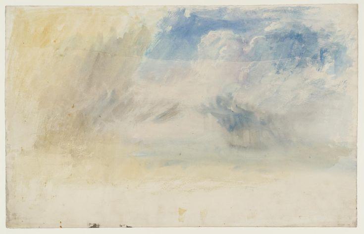 """Joseph Mallord William Turner, """"felhők és az eső víz felett"""" c.1820-40"""
