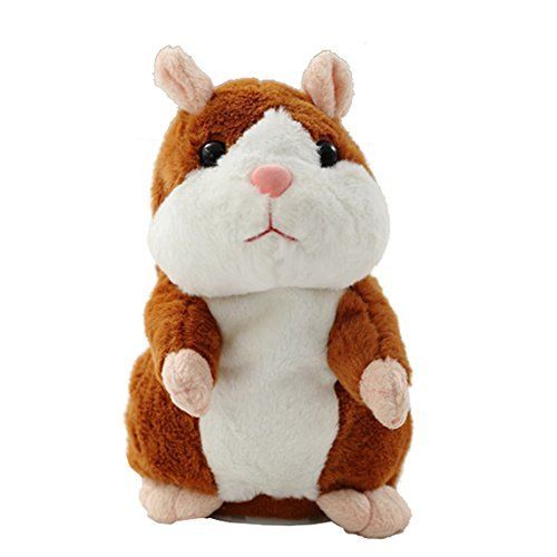 Creative Nod Talking Hamster Toys Repeats What You Say Electronic Pet Talking Plush Buddy Mouse for Child Surprise Gift   Brown. #Creative #Talking #Hamster #Toys #Repeats #What #Electronic #Plush #Buddy #Mouse #Child #Surprise #Gift #Brown