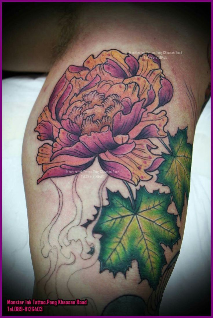 Flower #Janpanese #Tattoo #Bangkok #Khaosan Rd. #Thailand Monster ...