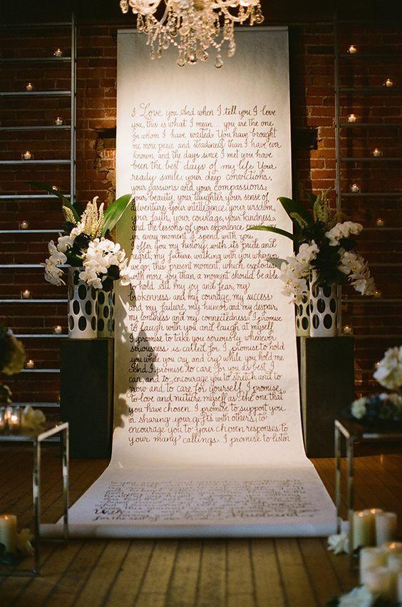Altar con letras