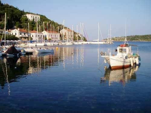 A fishing boat in Ithaca Greece!