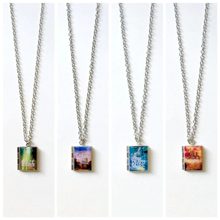 The Maze Runner Series Book Necklace - LitLifeCo.