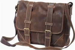 The Claire Chase Sorrento laptop messenger bag comes in several colors as well as standard and distressed leather.