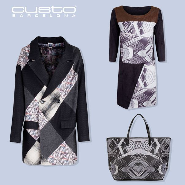 Un look muy geométrico para añadir un twist de actitud al invierno  A very geometric look to add a twist of attiude to winter.   Abrigo/Coat: bit.ly/custoviblack Vestido/Dress: bit.ly/custoestaimp Shopper: bit.ly/custoimperial