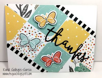 teojax: Butterfly Thanks card, Dreamin' Big paper, Dreamin' Big - Cardmaking stamp set, CTMH, Close to My Heart, Thin Cuts