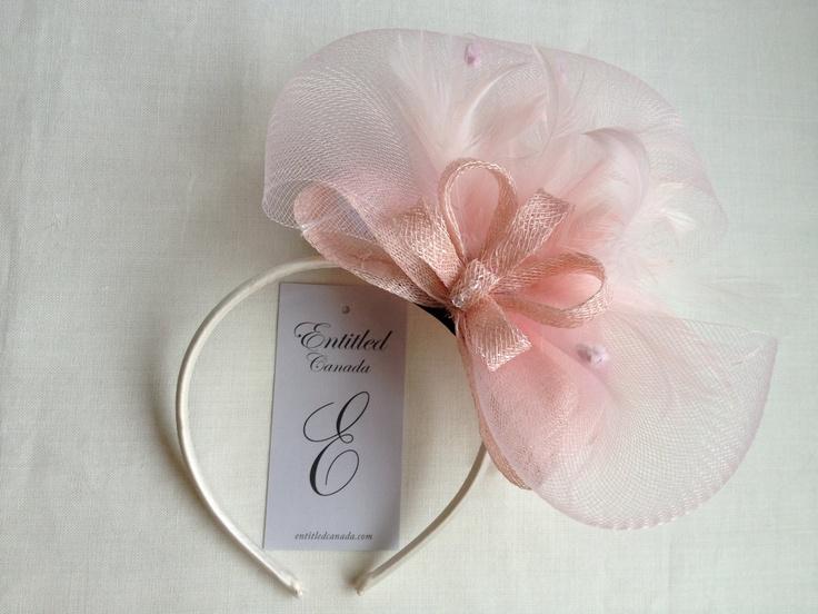 Small Pale Pink Fascinator Headband. $30.00, via Etsy.