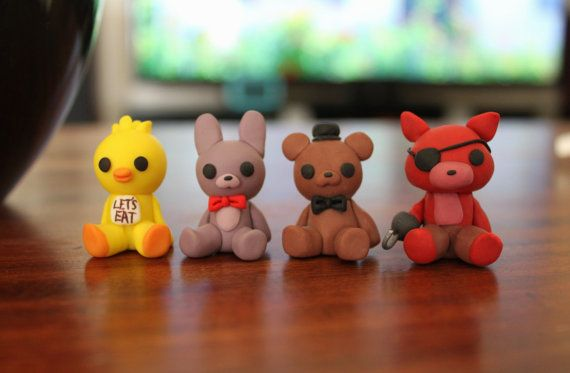 Five Nights At Freddy's Figures Polymer by HappyMachMiniatures