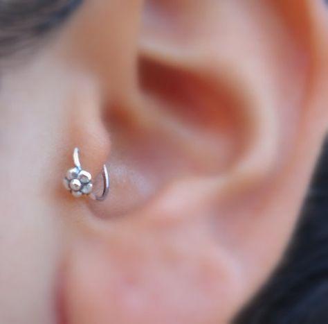 Pendiente del Tragus  nariz anillo aro  hélice  cartílago