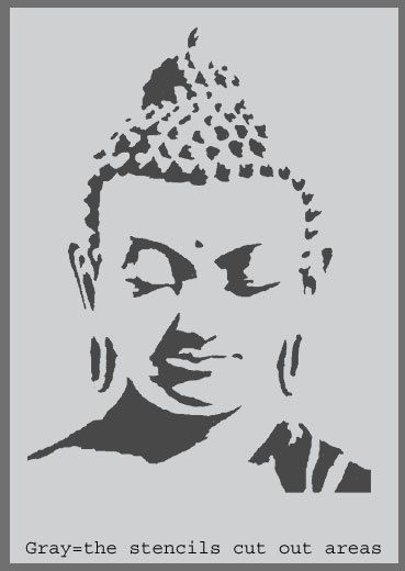 Buddah Stencil Buddhism Home Decorating stencil by IdealStencils