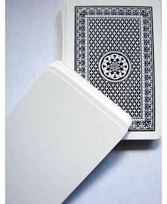 Tarquin Group Blank Playing Cards For flash cards, probability experiments, card game invention etc. Pack of 50 and blank on only one side. (Barcode EAN = 9781858116099). http://www.comparestoreprices.co.uk/playing-cards/tarquin-group-blank-playing-cards.asp