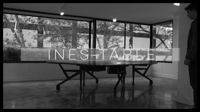 """Ines-Table en Exposición """"Other people have dogs"""" en Galería  D21 #fundacionarquitecturafragil #enricmiralles #smiljanradic #alejandroluer"""