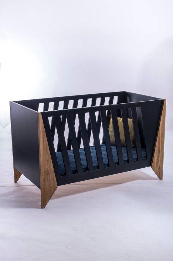 Baby crib, unique baby crib, black color white color baby crib
