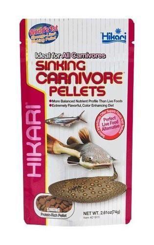 Hikari Sinking Carnivore Pellets Fish Food 2.61 oz