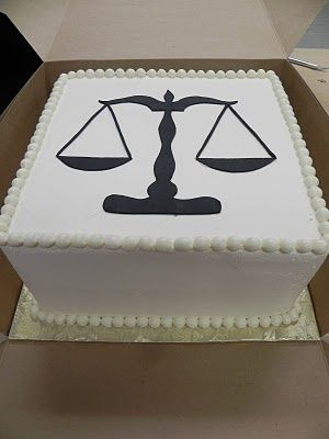 mcake law school | Scales of justice cake | Law School Graduation