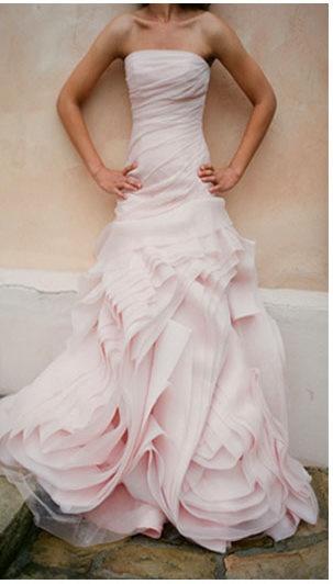 Gorgrous pink wedding dress. @Jason Stocks-Young Jones Style Weddings