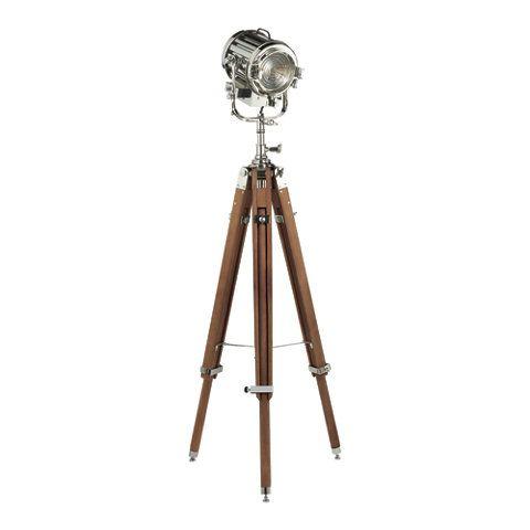 Montauk Search Light Floor Lamp in Polished Nickel - Floor Lamps - Lighting - Products - Ralph Lauren Home - RalphLaurenHome.com