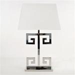 Clayton Greek Key Table Lamp by Worlds Away CLAYTON N