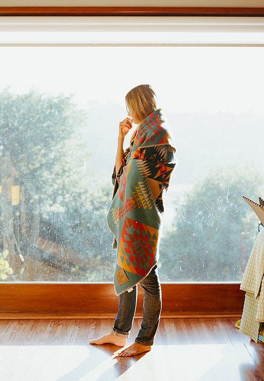 Fall is meant for cozying up in a beautiful blanket!