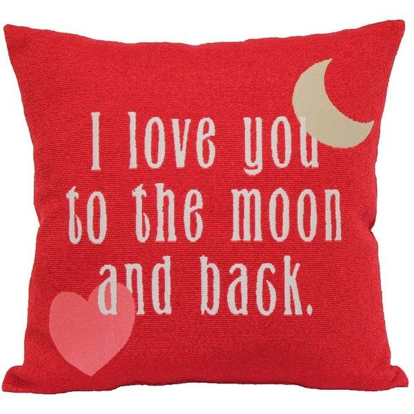 celebrate valentines day together love you to the moon back - Red Home Decor Accessories