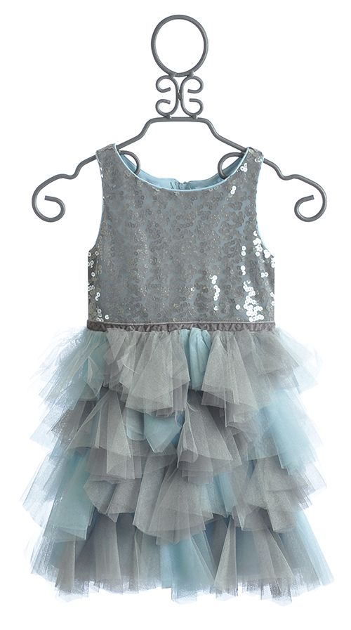 Biscotti Spot On Girls Silver Holiday Dress Biscotti