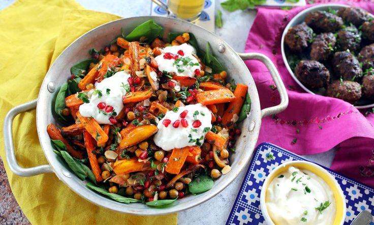 Marokkói kebab, sült sárgarépa salátával • Fördős Zé Magazin