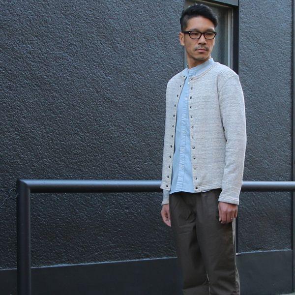 画像2: ヘビーウェイト裏毛クルーネックスナップジャケット【MADE IN JAPAN】『日本製 / Upscape Audience (2)