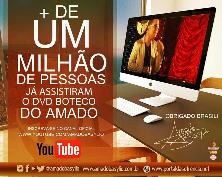O novo DVD do Cantor Amado Basylio vem conquistando público por todo Brasil, contei mais detalhes no Sua Música corre lá >>> http://link.cristiansalles.com/7