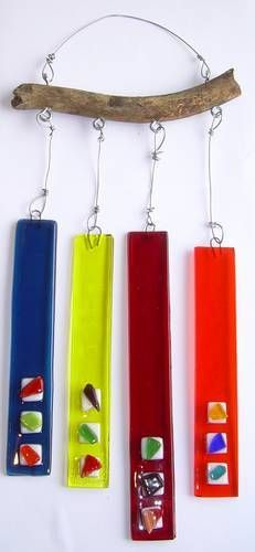 fused glass wind chimes.