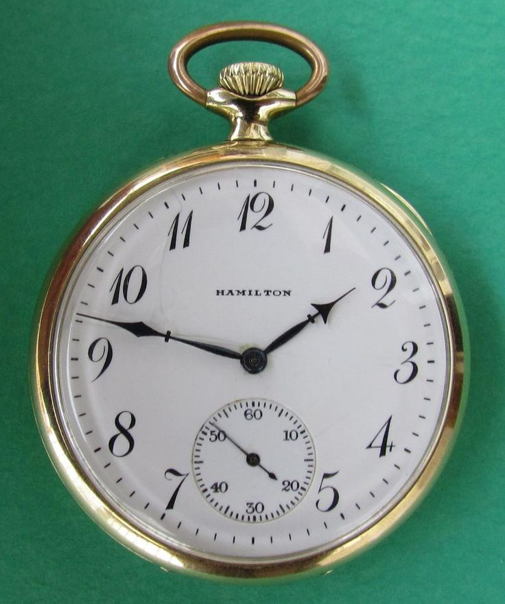 """Antiguo Reloj """"HAMILTON 910 Y 17 Rubí. U.S.A, Año 1914. Funcionamiento Exacto"""