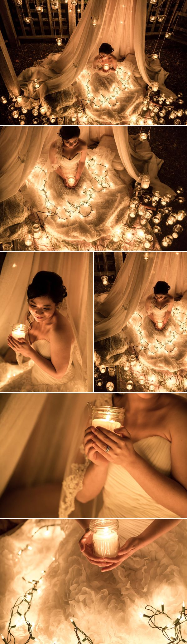 """Couple with an interesting story - """" Jeslin brought up the idea of shooting at night with sparklers, which then evolved into an evening shoot lit purely with candles in jars and string lights."""" - https://www.praisewedding.com/archives/4897 (FahmeenaOdetta)"""
