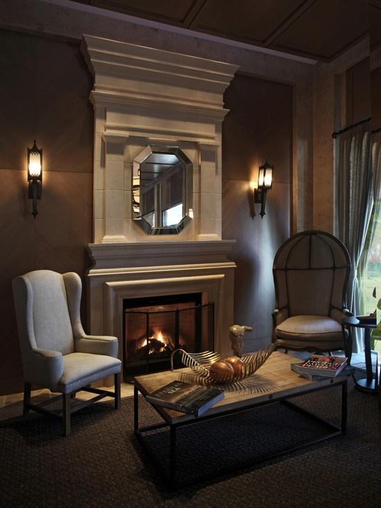Tartaruga Design Fireplace In Living Room
